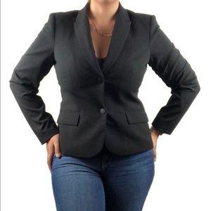 CALVIN KLEIN Black two button blazer suit jacket